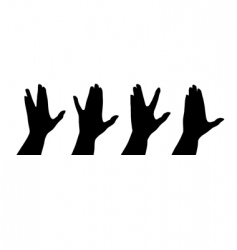 human hands silhouettes vector image