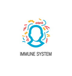immune system concept vector image