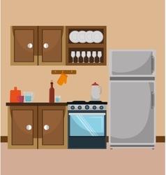 Kitchen and dishware vector
