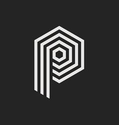 logo letter p vector image