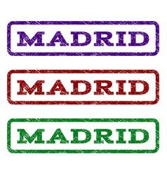 Madrid watermark stamp vector