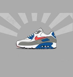 Nike air max 90 sunburst vector