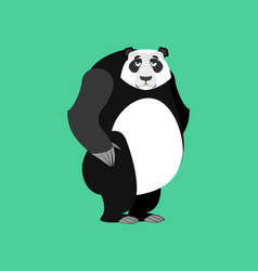 panda sad emoji chinese bear sadness emotion vector image