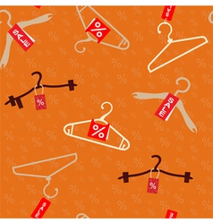 Pattern with hangers vector