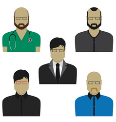 People professional set flat design vector