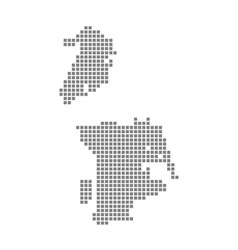 Pixel map of macau dotted map of macau isolated vector