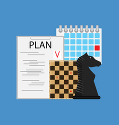 Plan tactic and strategy business vector