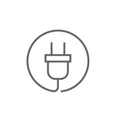 Plug line icon vector