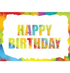 Polygon colorful birthday template vector