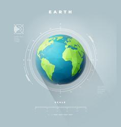 Polygonal earth hemisphere with scale vector