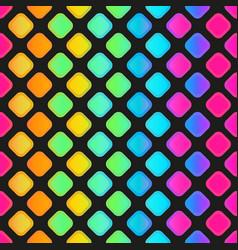 Rainbow mosaic seamless pattern vector