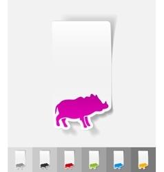 Realistic design element boar vector