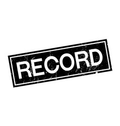 record rubber stamp vector image