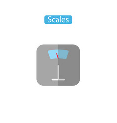 scales flat icons vector image