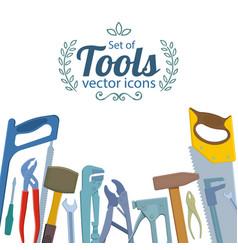 set of repair tools icons vector image