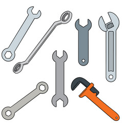 set of wrench vector image