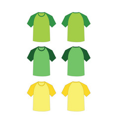 Short raglan t-shirts vector