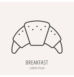 Simple Logo Template Breakfast vector image