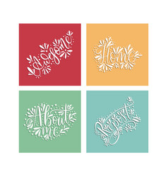 social media lettering set vector image