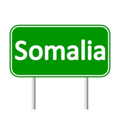 Somalia road sign vector