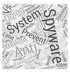 Spyware Anti spyware Word Cloud Concept vector