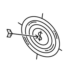 target icon doodle hand drawn or outline icon vector image