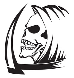 tattoo of a grim reaper with scythe vintage vector image