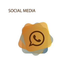 telephone icon whatsapp logo symbol phone vector image