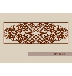 Template for cutting decorative panel vector