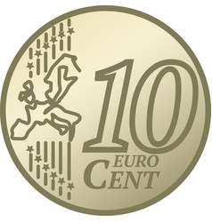 ten euro cent coin vector image