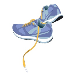 Trail Running Shoe vector