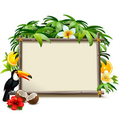 tropical jungle frame vector image