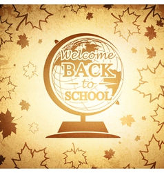 Vintage Globe Back to School vector