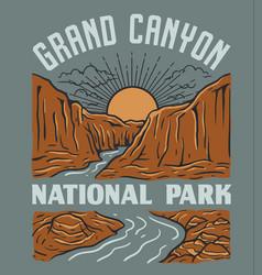 vintage grand canyon national park de vector image