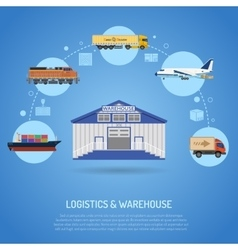 Warehouse and logistics concept vector image