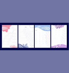 weekly planner organizer and schedule with notes vector image