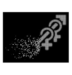 white fractured pixelated halftone harem icon vector image