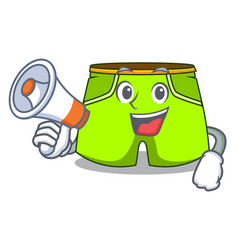 With megaphone character style short pant for vector
