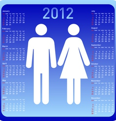 woman and man in calendar vector image