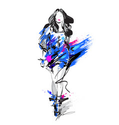 woman fashion model vector image