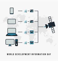 world development technology day vector image