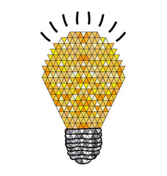 background with abstract light bulb with geometric vector image