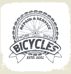 bicycles monochrome logo vector image vector image