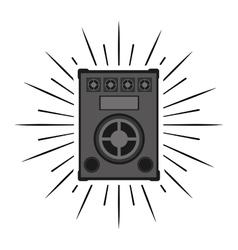 big speaker sound isolated icon vector image