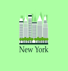 new york travel background vector image vector image
