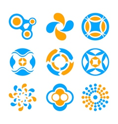 Circle logo elements vector
