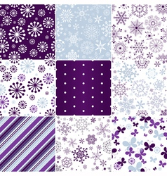 Collection seamless pastel christmas patterns vector image vector image