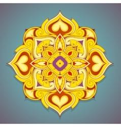 Decorative mandala shape vector image vector image