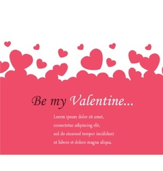 horizontal background Valentines Day vector image