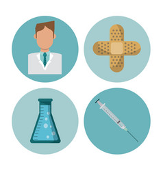 medical round symbols vector image